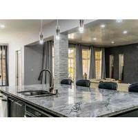 """Natural Marble Polished Premade Kitchen Countertops 96""""X26"""" With Cabinet"""