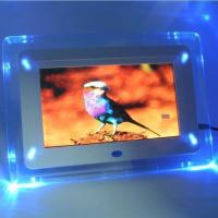 "Wholesale - -NEW!7"" inch Digital Photo Frame,Blue black light,ES7400,White Manufactures"