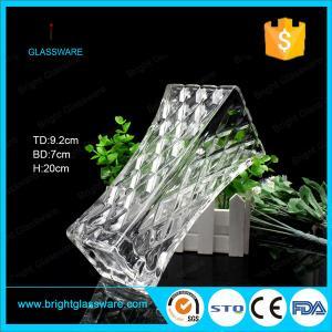 Clear Square Glass Flower Vase, Crystal Vase Decorations Manufactures