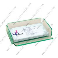 China Green Tinted Plexiglas Business Card Box on sale