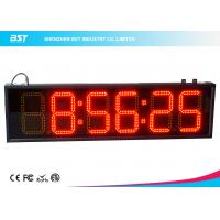 China 6 Inch Red Digital Led Clock Display Support 12 / 24 Hour Format Switch on sale