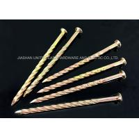 China Zinc Plated Diamond Point Twisted Shank Nails Length 13.00mm - 160mm wholesale