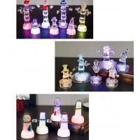 China Snow Shape Color Changing Led Night Light , Acrylic Led SnowmanFor Outdoor Decorative on sale