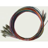 12colors 900um SC LC Fiber Optic Pigtail Cables , SM / MM / OM3 Optical Patch Cord