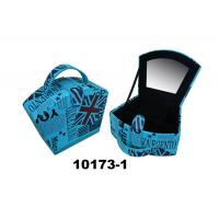 Lovely Velvet Jewelry Box Packing With Handle & Mirror Manufactures