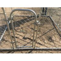 7.5ft x 7.5ft x 6ft chain mesh temporary dog kennel fence OD 32mm pipes galvanized steel temp dog fence Manufactures