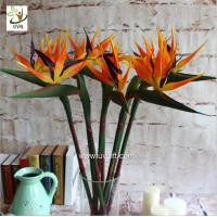 China UVG FBP112 party decoration idea artificial flowers uk in orange bird of paradise for home garden landscaping on sale