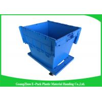 60L Large Plastic Storage Boxes With Lids , Plastic Shipping Containers With Attached Lids Manufactures