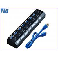 On/Off LED Light Showing 7 Ports USB 3.0 Hub with Extra AC Adapter and USB 3.0 Cable Manufactures