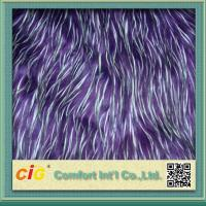 China Polychrome Long Pile Artificial Fur  / Jacquard Faux  Fur Fabric For Garmant Toy or Home Textile wholesale