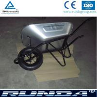 China galvanized color tray metal commercial wheelbarrow wb6400 for south africa market,industrial wheelbarrow for sales on sale
