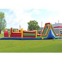 Plato PVC Tarpaulin Giant Inflatable Train Obstacle Course For Grassland Manufactures