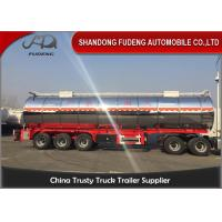 China 3 Axles And 4 Axles 60000 Liters Stainless Steel Oil Fuel Tanker Tank Semi Trailer on sale