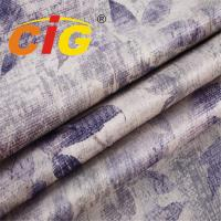 Buy cheap Weight 380gsm Width 145cm Printed Design Soft Touching Velvet Fabric for Sofa from wholesalers