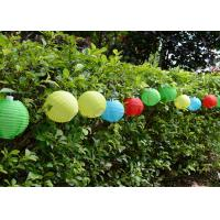 China Multi Color Solar Ball String Lights Water Resistant With 10 Piece Lanterns on sale