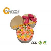 Fashion OEM Round Flower Paper Box Embossing Printing With Lids Manufactures