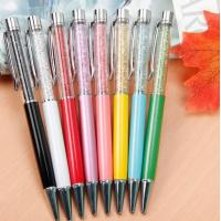 China Gift promotion Twist Metal pen,unique Metal crystal ballpoint pen for lady gift on sale