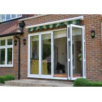 China Large Modern Aluminium Double Glazed Bi Fold Doors Size Customized Windproof wholesale
