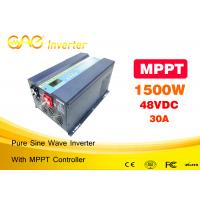 1500W Solar Pv Power Inverter With 30A MPPT Controller Pure Sine Wave Dc 12v 24v 48vdc To Ac 220vac Manufactures