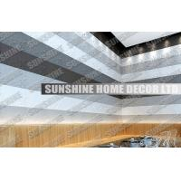 Sound Absorption Plastic 3D Wall Art Tiles For Office / Living Room Manufactures