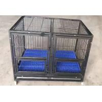 China folding heavy duty wire tube dog cage with wheels for large dogs(Whatsapp +86 13331359638) on sale