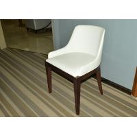 Solid Wood Restaurant Furniture White Color Dining Chair With Leather Seat Manufactures