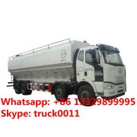 Faw 8*4 20ton farm-oriented and poultry animal feed delivery truck for sale, FAW 8*4 40m3 livestock feed truck for sale Manufactures