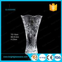 cheap clear glass vase for decoration Manufactures
