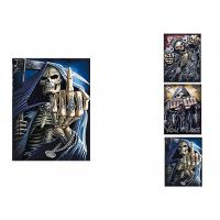 China 3 Images Scary Skull Heads 3D Lenticular Flip 30x40cm For Home Decoration on sale