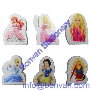 China snow white eraser,snow princess eraser,white princess gift promotional eraser on sale