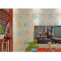 Chinese Style Vintage Inspired Wallpaper / Moisture Resistant Wallpaper High Grade Manufactures