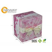 Professional CMYK Full Color Offset Printing Custom Printed Cardboard Boxes With Colored Ribbons Manufactures