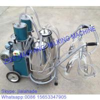 China For Russia market,Piston Typed Double Buckets Mobile Milking Machine,small portable milking machine for cow and goat on sale