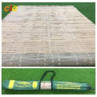 Buy cheap Bamboo mat with carrying bag,tied by raffia grass,hot summer  outdoor bamboo mat from wholesalers