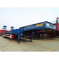 Low bed truck trailer for machinery transport Manufactures