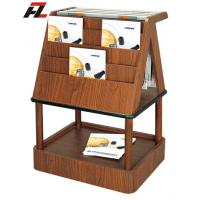 China Japanese Style Wood Magazine and News Paper Rack - Brochure Display on sale