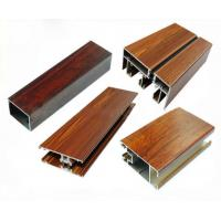 China Low Pollution Aluminum Window Frame Profile Wood Finish For Decoration on sale
