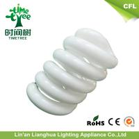 Quality 700K - 7000K 14mm Dia Glass Spiral Cfl Bulbs Tube With Half Triband for sale