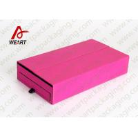 Colored Cosmetic Paper Box Fabric Cardboard Cosmetic Packaging Customized Size
