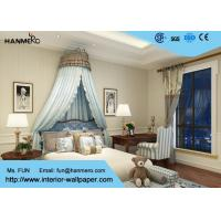 Soundproof 0.53*10M Non - woven Modern Striped Wallpaper for Living Room Manufactures