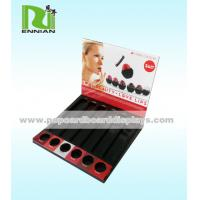 Retail Cardboard Counter Displays Paper Lipstick Store Display Racks With Holes Manufactures