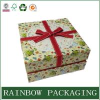 China Factory Custom Cardboard Paper Box Packaging for Gift Chocolate with Ribbon on sale