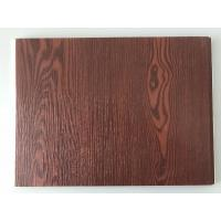 China Fireproof  PVC Garage Wall Panels With Wooden Lamination Width 40cm on sale