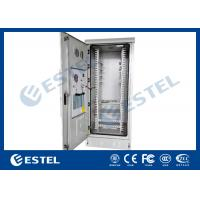 China 40U Steel Metal Outdoor Communication Cabinets Grey RAL 7035 Color wholesale
