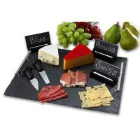 slate serving tray with stainless steel handles Manufactures