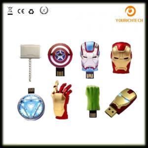 China Avengers USB Flash Drive 4G Iron Man 8G Pen Drive 16G Captain America 32G USB Stick Hulk Thor PenDrive U Disk USB Drive on sale