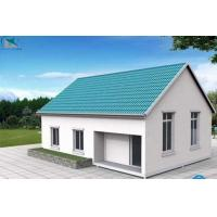China Modern sandwich panel prefabricated house as villa house for LH463 on sale