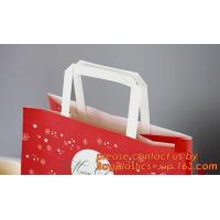 China Multicolor paper gift bag, colorful kraft paper shopping bag, Recycled Flat Handle Brown Krafts Paper Bags Custom, Chris on sale