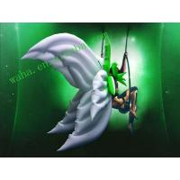 2m White Oxford Wearable Moving Inflatable Wing For Stage Decoration Manufactures