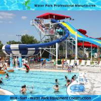 White / Blue Fiberglass Water Slides Adult Water Park Equipment Super Bowl Slide Manufactures